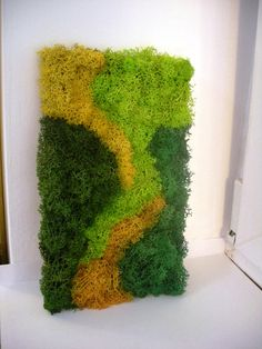Moss / Lichens Wall Art Moss Wall Art, Moss Art, Moss Decor, Diy Cans, Moss Garden, Plant Painting, Craft Club, Design Case, Nature Crafts