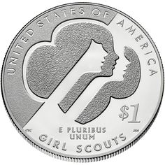 No Longer Available - 2013 Girls Scouts of the USA Centennial Silver Dollar (uncirculated) -  Celebrating the first 100 years of Girl Scouting in one splendid silver coin! $55.95