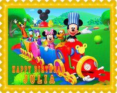 E-Cake-Image (ECI) - Mickey Mouse Clubhouse Train Edible Birthday Cake Topper OR Cupcake Topper, Decor, $7.95 (http://www.ecakeimage.com/mickey-mouse-clubhouse-train-edible-birthday-cake-topper-or-cupcake-topper-decor/)