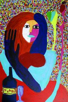 "Saatchi Art Artist Jimmy Reagan; Painting, ""Girl with Cork"" #art"