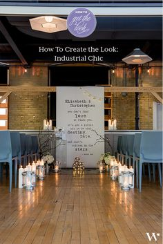 For the brides who want an industrial themed wedding, here's everything you need to know to create this Industrial Chic Wedding look!