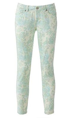 LC Lauren Conrad printed jeans {too cute}