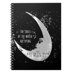 Man in the Moon Spiral Notebook