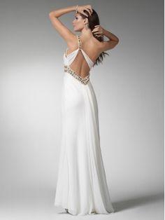 one shoulder prom dress white