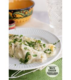 White Chicken Enchiladas |
