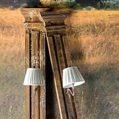 Hint of Holiday Rustic Wall Sconces, Rustic Walls, Farmhouse Wall Decor, Farmhouse Style Decorating, Wood Trim Walls, Stair Basket, Diy Wooden Wall, Wall Molding, Moulding