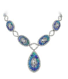 Bogh-Art at Masterpiece London, diamond inlaid into opal necklace. Photo courtesy of The Jewellery Editor