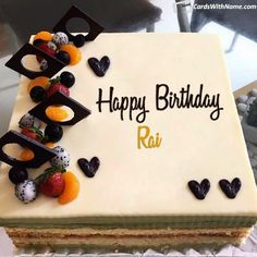 RAI Name Cards And Wishes Happy Birthday Noor, Happy Birthday Barbara, Happy Birthday Angel, Happy Birthday Cake Images, Beautiful Birthday Cakes, Best Friend Birthday Cake, Birthday Cake Write Name, Birthday Cake Writing, Cake Name