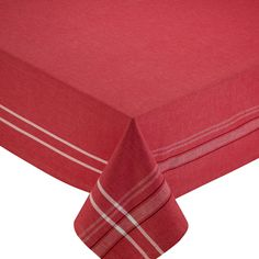 Tango Red 60-inch x 84-inch French Chambray Tablecloth