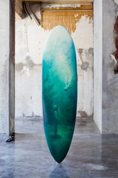 One thing we've definitely noticed in 2012 is the rise of the surfboard as desirable objet d'art. Most recently, the Wavescape Artboard exhibition saw 10 artists turn their touch to surfboards. Surfboard Painting, Surfboard Skateboard, Longboard Design, Surf Shack, Surf Art, Surfs Up, Heart Art, Installation Art, Art Boards