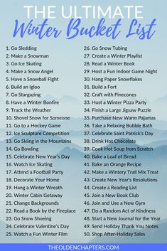 This is the ultimate winter bucket list that is perfect for teens, couples, adults, friends, familie Indoor Things To Do, Things To Do When Bored, Bucket List For Teens, Summer Bucket Lists, Fun Bucket List Ideas, Bucket List For Couples, College Bucket List, Fun List, Couple Activities