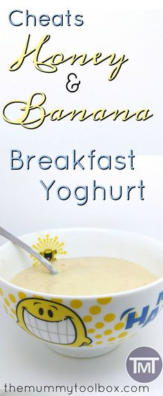 """This """"recipe"""" is delicious, healthy for the kids and is a totally customisable breakfast yoghurt for everyone to enjoy. Plus it's horrendously easy! Breakfast Casserole French Toast, Egg Recipes For Breakfast, Banana Breakfast, Vegetarian Breakfast, Breakfast Smoothies, Snack Recipes, Breakfast Ideas, Easy Recipes, Healthy Living Recipes"""