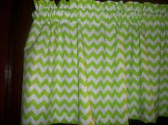 Valance Lime Green Chevron Zig Zag striped by yoursewingroom, $12.95