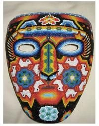 South American Folk Art Mask | in North and South American crafts. She first came across Huichol art ...