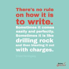 No rule on how it is to write Writing Quotes, In Writing, Writing Tips, Writing Inspiration, Quote Of The Day, Writer, Things To Come, Inspirational Quotes, Toolbox