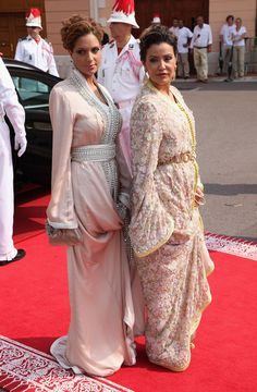 Princess Lalla Meryem and her beautiful daughter Lalla Soukaïna at the religious wedding of Prince Albert II and Princess Charlene of Monaco