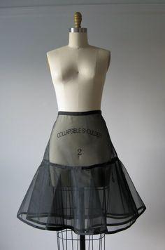 vintage 1950s sheer petticoat