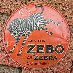 vintage tins image   antique tin sign - ASK for ZEBO - Original small round tin vintage ...