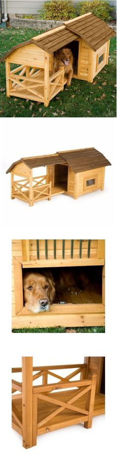 Dog Houses 108884: Dog House For Large Dogs Kennel Wooden Barn Xl Pet Puppy Raised Floor Shelter BUY IT NOW ONLY: $249.97
