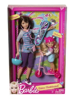 Amazon.com: Barbie Sisters Skateboard! Skipper and Chelsea: Toys & Games