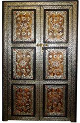 Berber features this beautiful Moroccan door made of cedar and brass, and has also a lage choice of moroccan doors. Moroccan Doors, Moroccan Furniture, Inside Doors, House Entrance, Painted Doors, Moorish, Tall Cabinet Storage, Hand Carved, Art Pieces