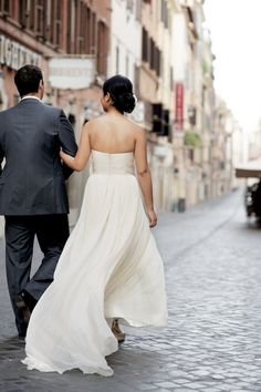 gorgeous dress in Rome