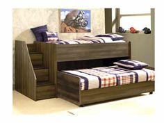 ... Twin Loft Bed W/ Left Storage Steps U0026 Twin Caster Bed   Hank Cocau0027s  Downtown Furniture   Loft Bed San Jose, California And San Francisco South Bay  Area