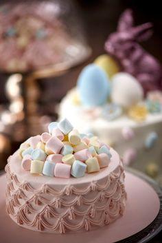 White Chocolate Mint Crème, Dark Chocolate Chiffon Sponge, Baby Marshmallows and Fresh Cream
