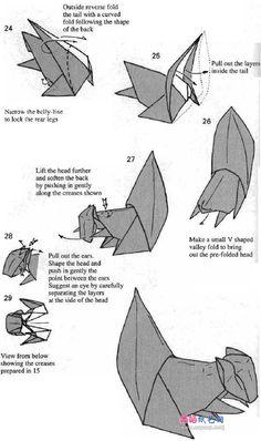 origami squirrel 6 Craft Art, Diy Art, Craft Ideas, Oragami, Origami Paper, Origami Guide, Decoupage, Origami Diagrams, Flying Squirrel