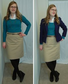 mossimo sweater / semantics skirt / mossimo wedges