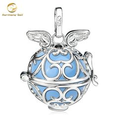 H228-20 Platinum Plated Copper Harmony Ball Angel Caller Pendant For Pregnant Women Fashion Floating Locket Angel Wings Pendants