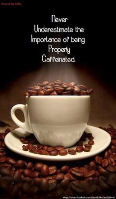 Never underestimate the importance of being properly caffeinated. #coffee