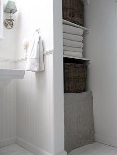 option for towel storage