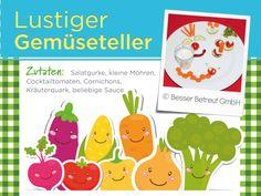 Wer hätte gedacht, dass Gemüse so lustig sein kann? Healthy Eating For Kids, Clean Foods, Funny