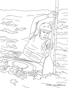 This Canoe Kayak coloring page is available for free on hellokids.com. More sports coloring pages on hellokids.com