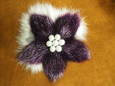 Sealskin & fur broach by Beely Huang