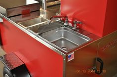 TopDogCarts.com - TD 18 model cart with three sinks.