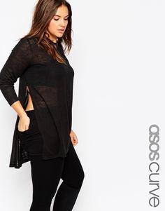 af69c19ccc638 Plus Size Tunic With Split Side Trendy Plus Size Fashion