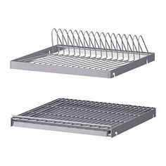 IKEA - UTRUSTA, Dish drainer for wall cabinet, 40x35 cm, , Can be mounted in a wall cabinet to free up space on the worktop.The included tray collects runoff water and is easy to clean since it can be taken out of the cabinet.25 year guarantee. Read about the terms in the guarantee brochure.