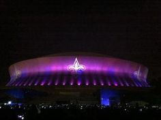 Super Dome! Saints football live...can't wait!!