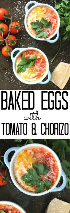 Warm and comforting, this Baked Eggs with Tomato & Chorizo recipe makes the perfect quick and easy lunch on a cold winters day