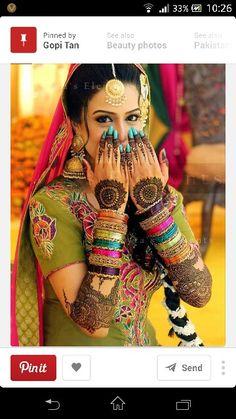 #colourful#mehndi#bangles