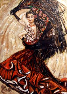 Flamenco 70x100cm