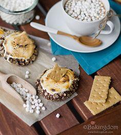 Chocolate S'more Crinkle Cookies