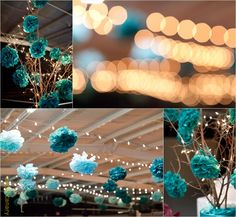 DIY weddings // for the love of poms ;)