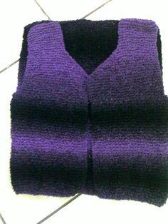 Tricotando carinho: COLETE EM FIO DUAL
