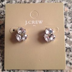 J. Crew Crystal Cluster Earrings New never worn j crew earrings J. Crew Jewelry Earrings
