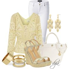 Long sleeve & Sandals, created by dgia on Polyvore