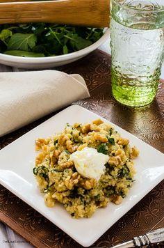 Arugula Quinoa Risotto with Walnuts and Ricotta