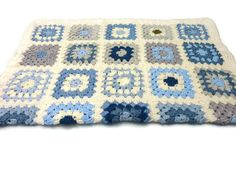 This gorgeous super soft and snuggly Blue Baby Crochet Blanket, will look adorable in any baby crib, pram or pushchair!!! It has been hand made in a